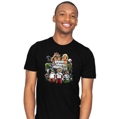 Grand Theft Mario V Reprint - Mens - T-Shirts - RIPT Apparel