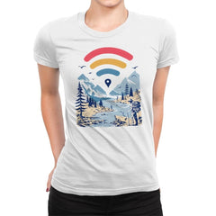 Internet Explorer - Womens Premium - T-Shirts - RIPT Apparel