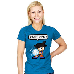 8bit Kamehame - Womens - T-Shirts - RIPT Apparel