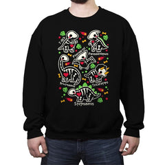 Dinosaurs skeletons - Crew Neck Sweatshirt - Crew Neck Sweatshirt - RIPT Apparel