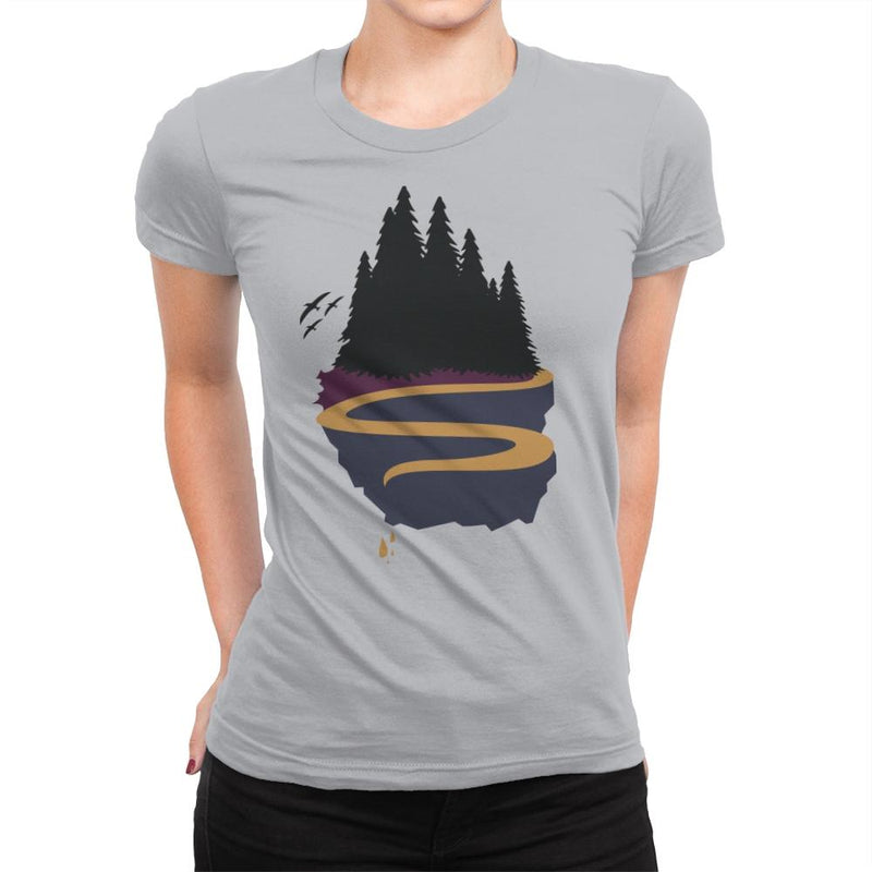 Cliffside Paradise 2 - Womens Premium - T-Shirts - RIPT Apparel