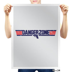 Into The Danger Zone Reprint - Prints - Posters - RIPT Apparel