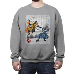Fire vs Ice - Crew Neck Sweatshirt - Crew Neck Sweatshirt - RIPT Apparel