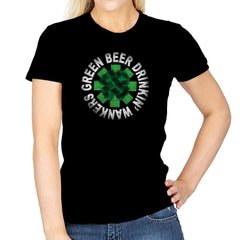 Green Beer Drinkin' Exclusive - St Paddys Day - Womens - T-Shirts - RIPT Apparel
