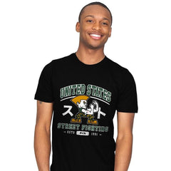 USA Street Fighting - Mens - T-Shirts - RIPT Apparel