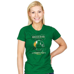 Green Man Irish Green Ale - Womens - T-Shirts - RIPT Apparel