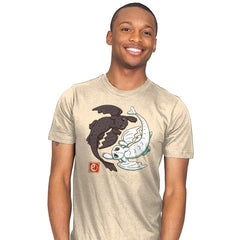 Yin Yang Dragons - Mens - T-Shirts - RIPT Apparel