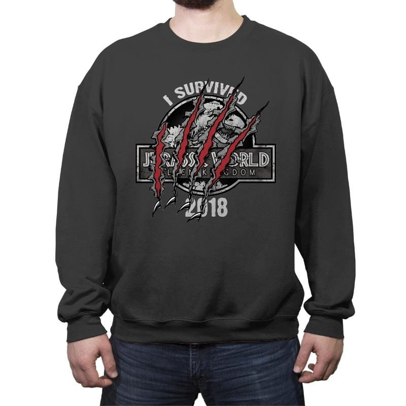 I Survived - Crew Neck Sweatshirt - Crew Neck Sweatshirt - RIPT Apparel