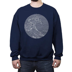 The Great Wave of Pleasures - Crew Neck Sweatshirt - Crew Neck Sweatshirt - RIPT Apparel