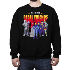 Super Rebel Friends - Crew Neck Sweatshirt - Crew Neck Sweatshirt - RIPT Apparel