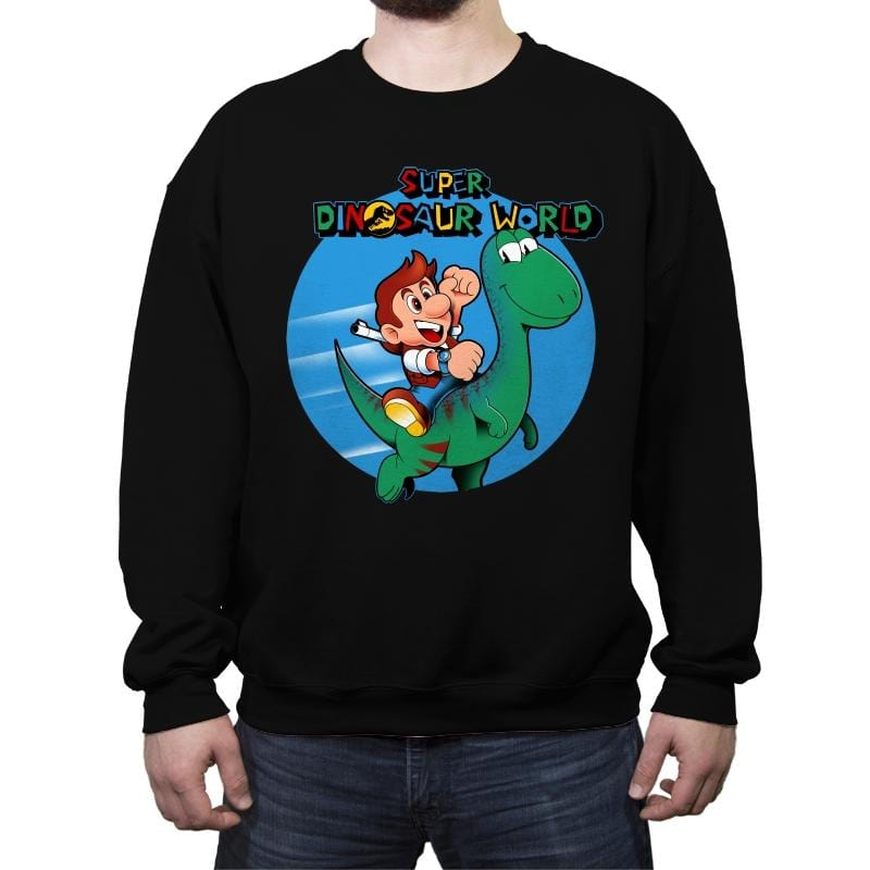 Super Dinosaur World - Crew Neck Sweatshirt - Crew Neck Sweatshirt - RIPT Apparel