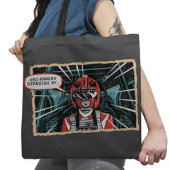 Red Ranger Standing By Exclusive - Tote Bag - Tote Bag - RIPT Apparel