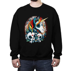 Sweet Unicorn Cammeo - Crew Neck Sweatshirt - Crew Neck Sweatshirt - RIPT Apparel