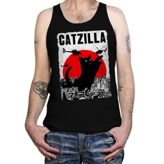Catzilla City Attack - Tanktop - Tanktop - RIPT Apparel