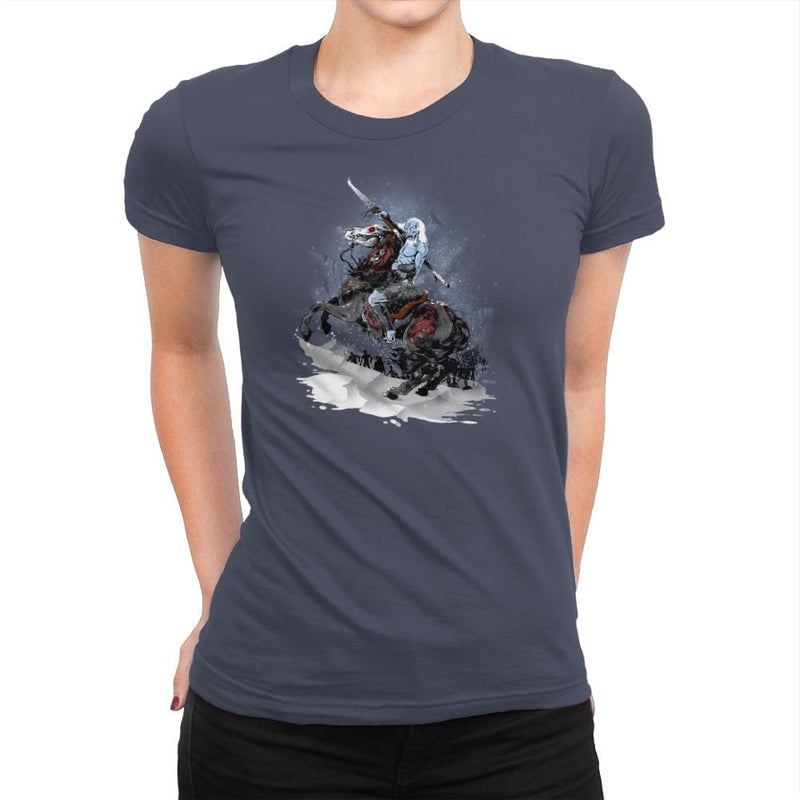 Walker Crossing the North Exclusive - Womens Premium - T-Shirts - RIPT Apparel
