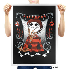 Nightmare In Pumpkin Land - Miniature Mayhem - Prints - Posters - RIPT Apparel