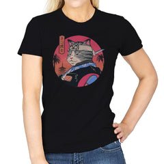 Samurai Cat - Womens - T-Shirts - RIPT Apparel