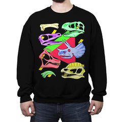 Radical Dinos - Crew Neck Sweatshirt - Crew Neck Sweatshirt - RIPT Apparel