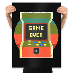 Video Game Over - Prints - Posters - RIPT Apparel