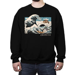 The Great Wave of Spirits - Crew Neck Sweatshirt - Crew Neck Sweatshirt - RIPT Apparel