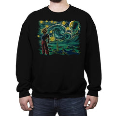 Starry Namek - Crew Neck Sweatshirt - Crew Neck Sweatshirt - RIPT Apparel