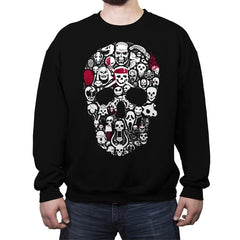 Skulls Time - Crew Neck Sweatshirt - Crew Neck Sweatshirt - RIPT Apparel