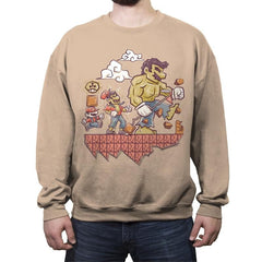Radioactive Mushroom - Crew Neck Sweatshirt - Crew Neck Sweatshirt - RIPT Apparel
