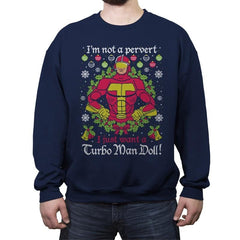 Not A Pervert - Ugly Holiday - Crew Neck Sweatshirt - Crew Neck Sweatshirt - RIPT Apparel