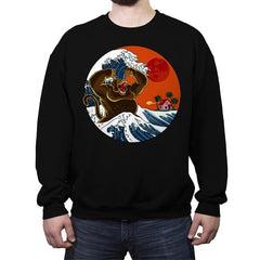 Great Monster From Kanagawa - Crew Neck Sweatshirt - Crew Neck Sweatshirt - RIPT Apparel