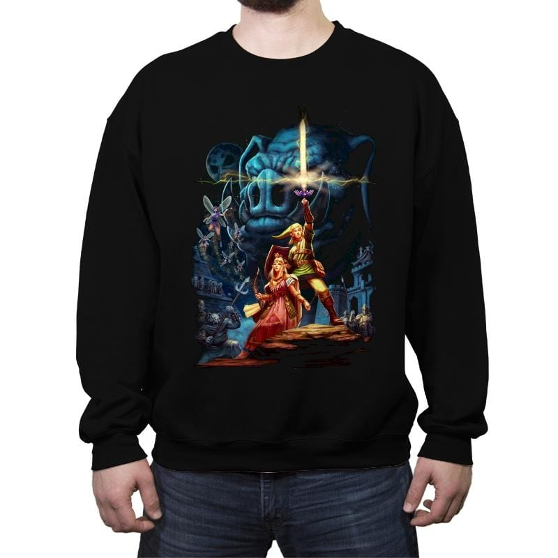 Link Wars Reprint - Crew Neck Sweatshirt - Crew Neck Sweatshirt - RIPT Apparel