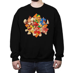 Mighty Gaming Rangers - Crew Neck Sweatshirt - Crew Neck Sweatshirt - RIPT Apparel