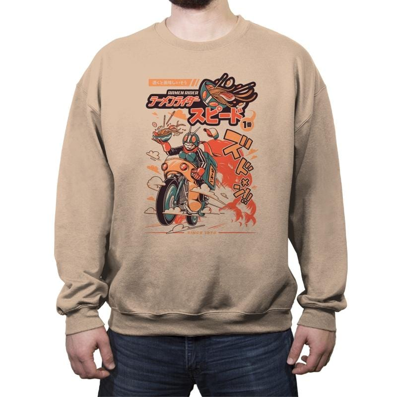 Ramen Rider - Crew Neck Sweatshirt - Crew Neck Sweatshirt - RIPT Apparel