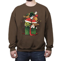 Christmas Pets - Crew Neck Sweatshirt - Crew Neck Sweatshirt - RIPT Apparel