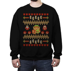 Don't Wear This Alone - Ugly Holiday - Crew Neck Sweatshirt - Crew Neck Sweatshirt - RIPT Apparel