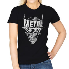 Heavy Metal Laughing-Bat - Anytime - Womens - T-Shirts - RIPT Apparel