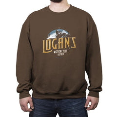 Logan's Motorcycle Repair - Crew Neck Sweatshirt - Crew Neck Sweatshirt - RIPT Apparel