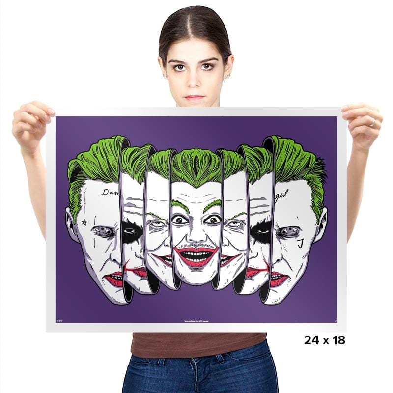 The Joke Has Many Faces Exclusive - Prints - Posters - RIPT Apparel