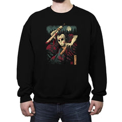 The Samurai Slasher - Crew Neck Sweatshirt - Crew Neck Sweatshirt - RIPT Apparel