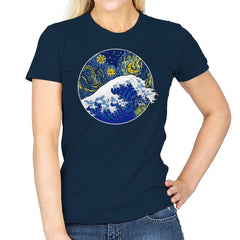Starry Wave - Womens - T-Shirts - RIPT Apparel