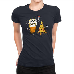 Beer and Pizza - Womens Premium - T-Shirts - RIPT Apparel