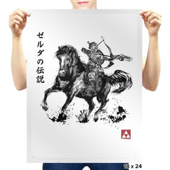 Wild Hunter sumi-e - Prints - Posters - RIPT Apparel