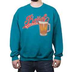 Relief Pitcher - Crew Neck Sweatshirt - Crew Neck Sweatshirt - RIPT Apparel