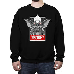 Disobey The Rules - Crew Neck Sweatshirt - Crew Neck Sweatshirt - RIPT Apparel