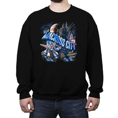 Visit Macross City - Crew Neck Sweatshirt - Crew Neck Sweatshirt - RIPT Apparel