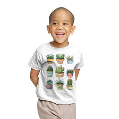 Succulents Kawaii - Youth - T-Shirts - RIPT Apparel