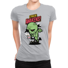 Cthulhu Awakens Again - Womens Premium - T-Shirts - RIPT Apparel