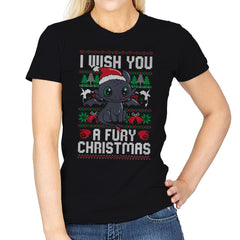 Fury Christmas - Womens - T-Shirts - RIPT Apparel