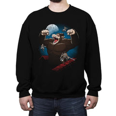 Attack on Ozaru - Crew Neck Sweatshirt - Crew Neck Sweatshirt - RIPT Apparel
