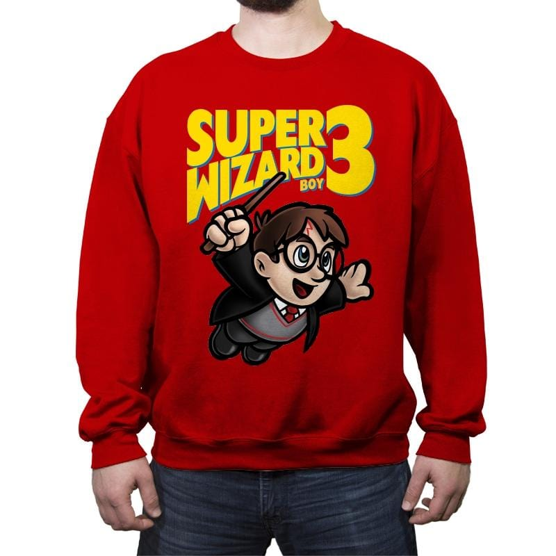 Super Wizard Bros. 3 - Crew Neck Sweatshirt - Crew Neck Sweatshirt - RIPT Apparel