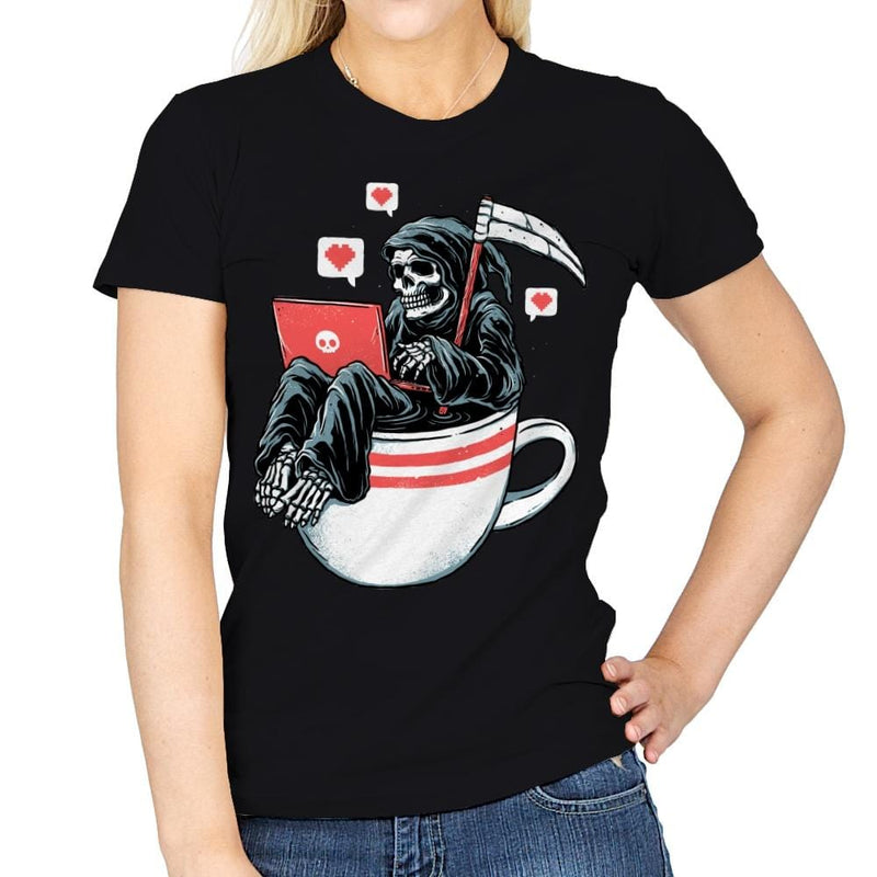 Love Death and Coffee - Womens - T-Shirts - RIPT Apparel